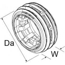 Webasto distancering 22/24mm til udstødningslange